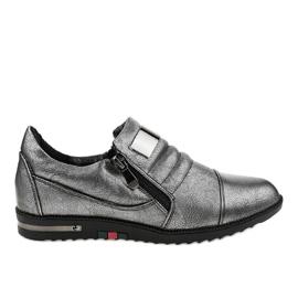Harmaat kengät vetoketjulla H034
