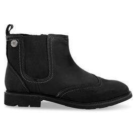 Korkeasti eristetyt matalahihnat kengät 4682 musta