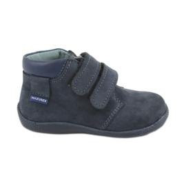 Poikien kengät Velcro Mazurek 341 laivastonsinisellä