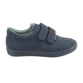 Poikien kengät Velcro Mazurek 268 tummansininen laivasto
