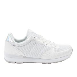 Valkoinen Valkoiset miesten urheilujalkineet 5535A-1