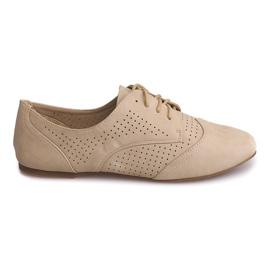 Ruskea Openwork Jazz Shoes Matala 219 Beige