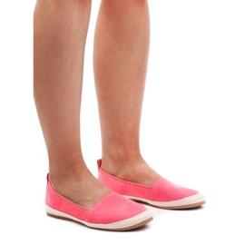 Pinkki Mokkanahkalerina Espadrilles 889-103 Pink