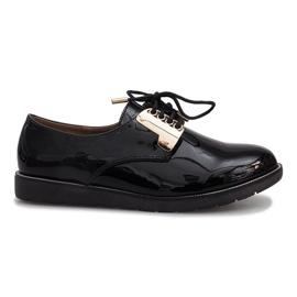 Mustat lakatut Rose-kengät