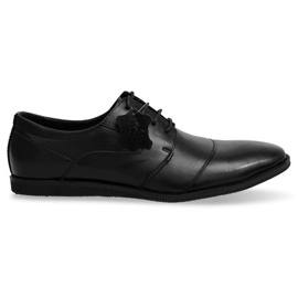 Nahkanauhoilla varustetut kengät LJ41 musta