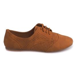 Ruskea Openwork Jazz Shoes Low 219 Kameli