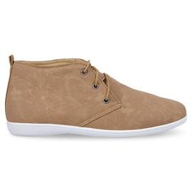 Ruskea Korkeat tyylikkäät kengät 3569 kameli