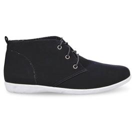 Korkeat tyylikkäät kengät 3569 musta