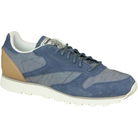 Sininen Reebok Cl Leather Fleck M AQ9722 kengät