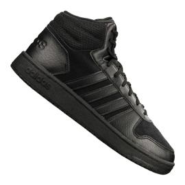 Musta Adidas Hoops 2.0 Mid M B44649 kengät