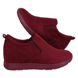 Kengät piilotetussa kiilakorossa ZY-7K67 punainen