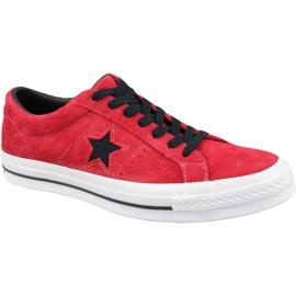 Punainen Converse One Star M 163246C kengät punaiset