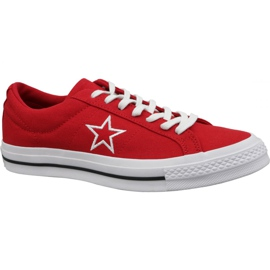 Converse One Star Ox kengät M 163378C punainen