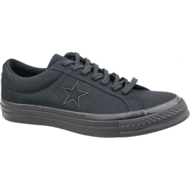 Converse One Star Ox M 163380C kengät mustat