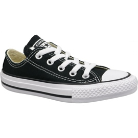 Musta Converse C. Taylor All Star Youth Ox Jr 3J235C kengät