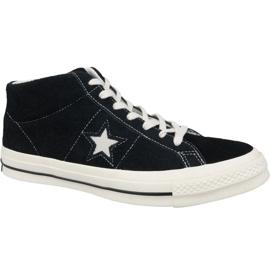 Musta Converse One Star Ox Mid Vintage Mokkanahka M 157701C kengät