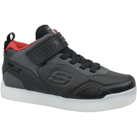 Musta Skechers Energy Lights Jr 90613L-BKRD kengät