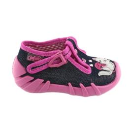 Befado lasten kengät 110P348 hopeanvärinen laivastonsiniset
