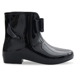 UUSI Wellingtons with Bow NEW1 Musta