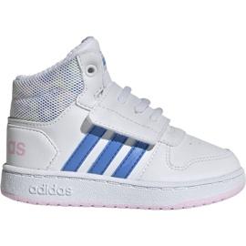 Adidas Hoops Mid 2.0 I Jr EE8550 kengät valkoinen