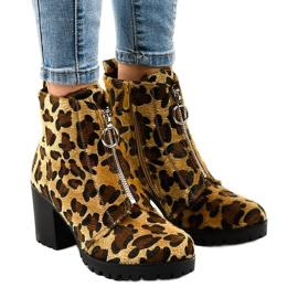 Leopard-naisten saappaat A273-vetoketjulla