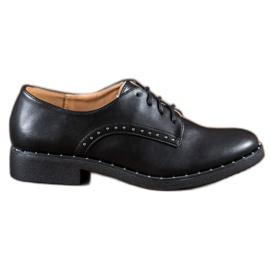Danic musta Kengät, joissa on zirkoneja