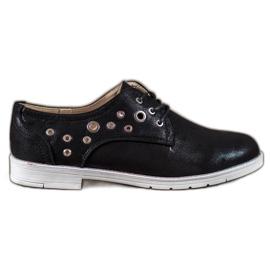 SHELOVET musta Sidotut kengät eko-nahkaa