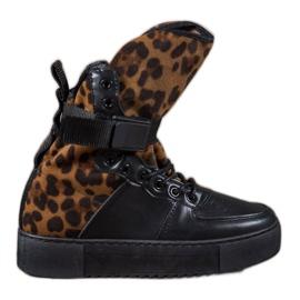 Diamantique musta Leoparditulkasaappaat