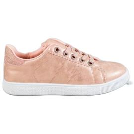 SHELOVET pinkki Tennarit jossa Brocade