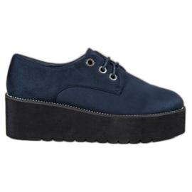 SHELOVET sininen Mokkanahka kengät alustalla