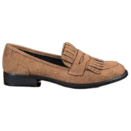 SHELOVET ruskea Loafers kanssa Fringes