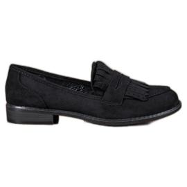 SHELOVET musta Loafers kanssa Fringes