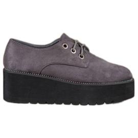 SHELOVET harmaa Mokkanahka kengät alustalla