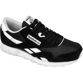 Musta Reebok Classic Nylon Jr J21506 kengät