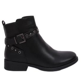 Musta musta Jodhpur-kengät naisille musta KL-578 musta