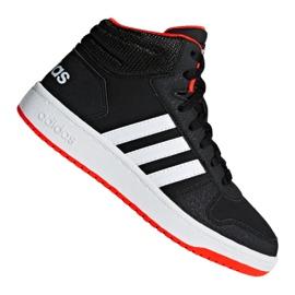Musta Adidas Hoops Mid 2.0 K Jr B75743 kengät