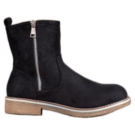 SHELOVET musta Suede Boots