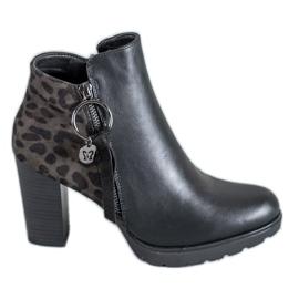 Filippo Leopard tulosta naisten saappaat musta
