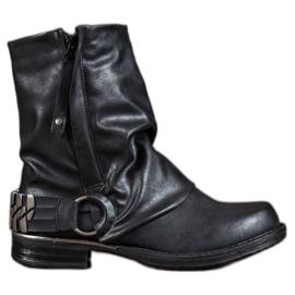 Seastar Biker-saappaat musta