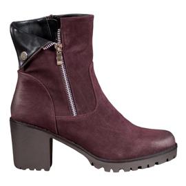 VINCEZA Burgundy Bootsit punainen