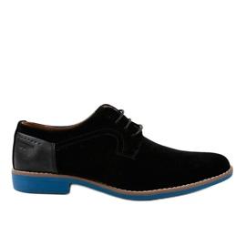 Mustat tyylikkäät kengät H-32