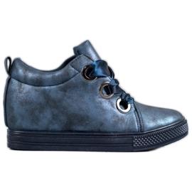New Tlck Kengät sidottu nauhalla sininen