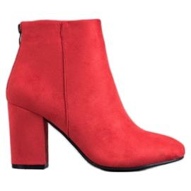 VINCEZA Sexy Bootsit punainen