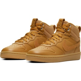 Nike Court Borough Mid 2 Boot Jr BQ5440-700 kengät ruskea