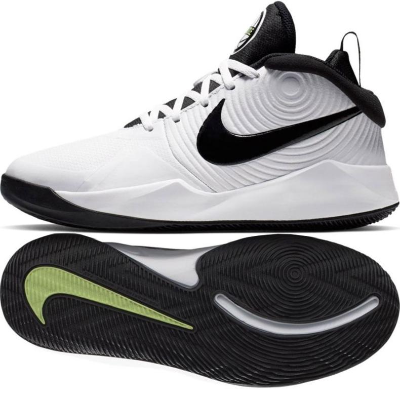 Nike team Hustle D 9 (GS) Jr AQ4224-100 kengät valkoinen valkoinen