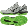 Mizuno Cyclone Speed 2 Jr V1GD191037 kengät harmaa harmaa / hopea