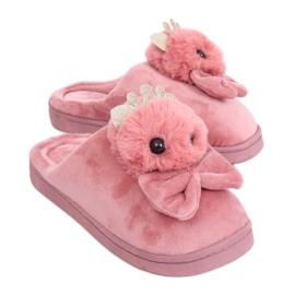Likaiset vaaleanpunaiset naisten tohvelit DD112 Pink pinkki