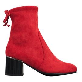Goodin Tyylikkäät punaiset saappaat punainen