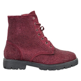 Sweet Shoes Burgundin mokkanahaiset punainen
