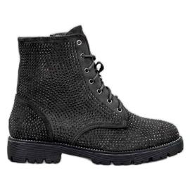 Sweet Shoes Mustat mokkanahkakengät